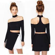 halter neck blouse fashion womens clothing halter neck crop top shoulder