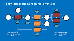 flat bold handwritten powerpoint tree diagram shapes slidemodel