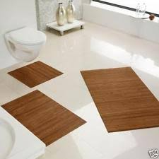 Bamboo Bathroom Rug Bath Mats In Colour Gold Ebay