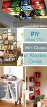 milk crate shelves diy ideas with milk crates or wooden crates hative