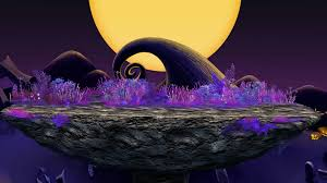 kingdom hearts halloween town background moonlight hill super smash bros for wii u u003e maps u003e stages u003e wifi
