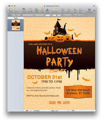 halloween party invitation for pages u2013 mactemplates regarding