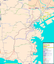 A Train Subway Map by Rail Map Of Yokohama Johomaps