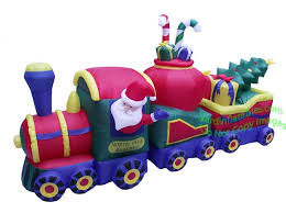 Blow Up Christmas Yard Decorations by Air Blown 12 U0027 Inflatable Christmas Train