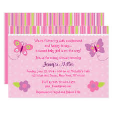 butterfly baby shower butterfly baby shower invitations announcements zazzle