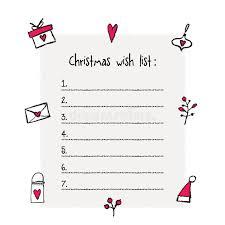 christmas wish list christmas wish list template stock vector illustration of