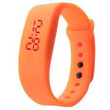 digital bracelet led watches images Womens mens rubber led watch date sports bracelet digital wrist jpg