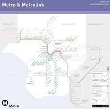 la metro rail map los angeles metro and metrolink map