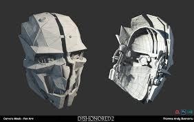 Dishonored Mask Thomas Andy Butnariu Corvo U0027s Mask Dishonored 2 Fan Art