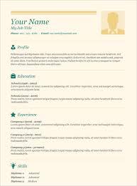 Basic Resume Outline Sample Pretty Ideas Basic Resume Template 9 Resume Examples Basic