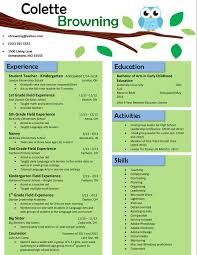 Resume Teacher Examples Owl Teaching Resume Buy The Template For Just 15 Resume