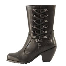 womens xelement boots cheep xelement s lace and lock leather biker boots black uk