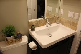 Bathroom Vanity Backsplash by Outstanding Bathroom Vanities With Tops And Sinks And Faucets