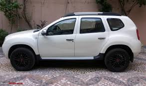 renault duster white renault duster wheel u0026 tyre upgrade page 3 team bhp