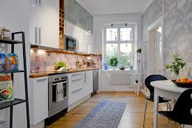 white kitchen design apartment comfortable modern apartment decor with dining area in