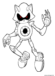 Coloriage Sonic Robot dessin