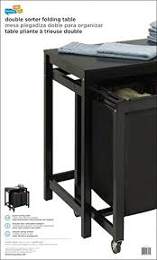 honey can do folding table amazon com honey can do srt 03571 double sorter folding table with