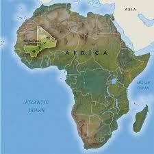 Mali World Map by Interesting Information About Mali