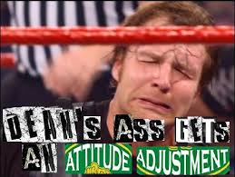 Dean Ambrose Memes - dean ambrose gets an attitude adjustment expand dong know your