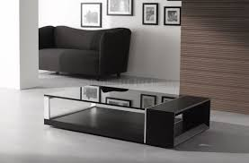 wenge finish contemporary coffee table w dark glass top