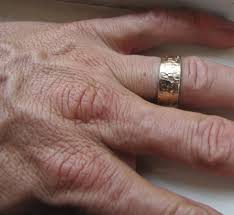 mens rustic wedding bands men s wedding band 14k gold unique rustic distressed ring