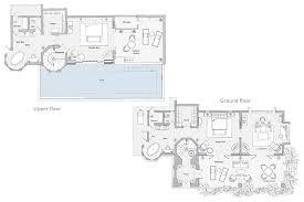 Beach Bungalow Floor Plans Duplex Two Bedroom Cape Pool Villa Floor Plan M Pinterest