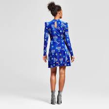 royal blue women s hanukah ruffle velvet dress xhilaration juniors