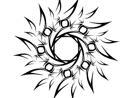 half moon tribal design