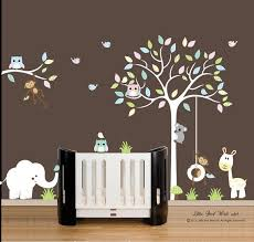White Tree Wall Decal For Nursery Wall Decal Design Birch White Tree Wall Decal For Nursery In
