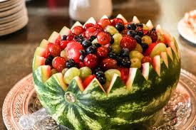 Decorative Fruit Bowl by Watermelon Bowl Fruit Salad Just A Little Bite