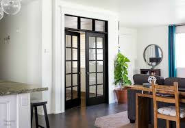 Interior White French Doors Pneumatic Addict Interior French Door With Diy Transom Window