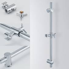 f203 stainless steel slide bars with all brass handheld shower