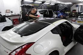 nissan 370z custom black nissan 370z nismo gloss black roof wrap u2013 boundary car care