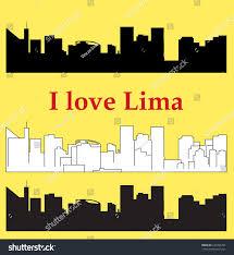 lime silhouette lima peru city silhouette stock vector 237454297 shutterstock