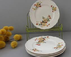 Shabby Chic Plates by 40s Decor Etsy