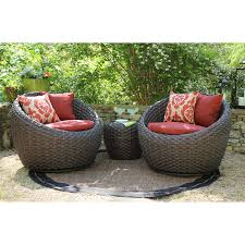 Sunbrella Outdoor Patio Furniture Corona 3 Pc Seating Set With Premium Sunbrella Fabric