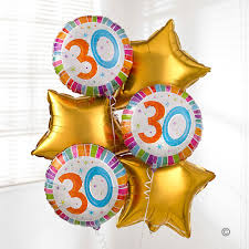30th birthday balloon bouquets uk gift delivery 30th birthday balloon bouquet isle of wight