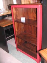 Small Red Bookcase Bookcase In Natural Finish On Wormy Maple Our Store Pinterest