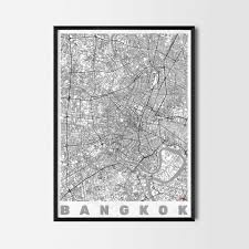 bangkok gift map art prints and posters home decor gifts
