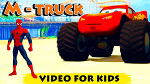 kids monster truck video venom and lightning mcqueen video for kids youtube video disney