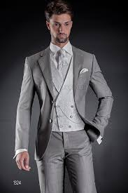 light gray vested suit 2 buttons light grey formal suit with double breasted vest in silk