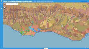 Santa Barbara Map Santa Barbara Restoration Project Database Ccber