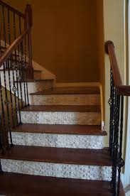 decorating amazing stair risers painted steps with blue pottery