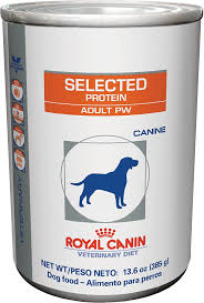 royal canin veterinary diet selected protein pw canned dog