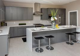 Gray Kitchens Pictures Modern Minimalist Custom Kitchen Design Ideas Featuring White Grey