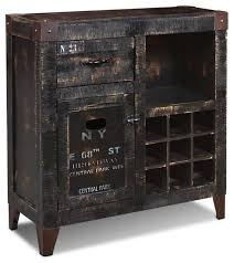 Distressed Wood Bar Cabinet Rustic Wine Cabinet Furniture Roselawnlutheran
