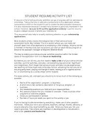 What To Add On A Resume Resume Activities Example Activity Director Sample Resume