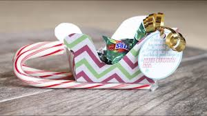 how to make christmas candy holder sleighs youtube