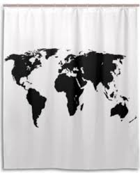 World Map Fabric Shower Curtain New Shopping Special Popcreation World Map Green Map Design
