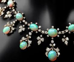 opal australia necklace images Antique diamond australian opal necklace necklaceday jpg